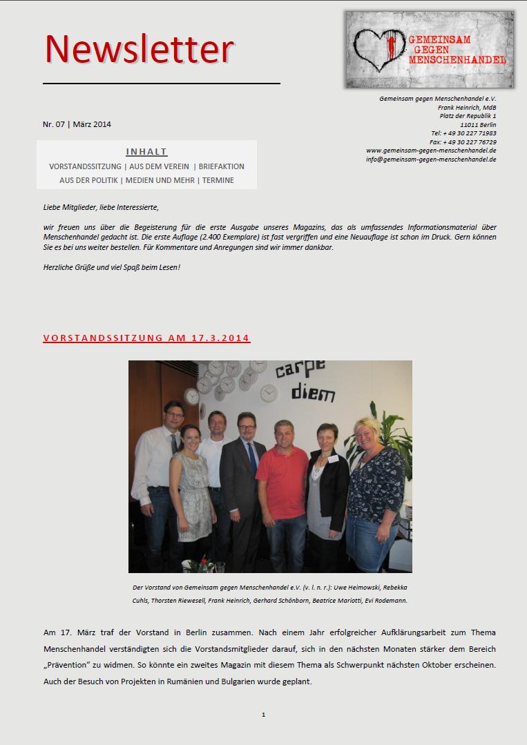 März 2014 News