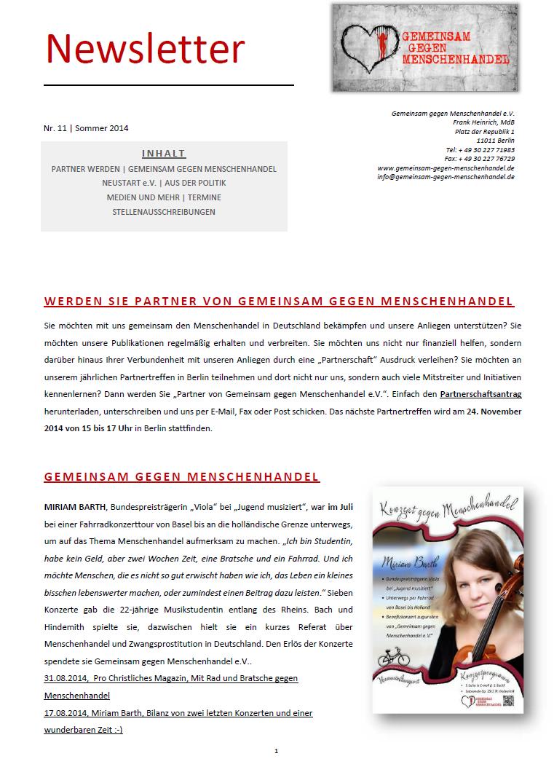 September 2014 News