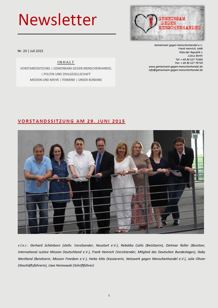 Juli 2015 News